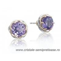 Cercei din cristale si pietre semipretioase