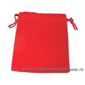 Saculet catifea rosu 12 cm